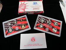 United States Mint Silver 2002 Proof Set MIB With COA