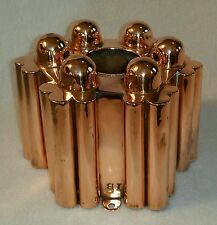 """19th C. English or French Copper Aspic Jelly Food Mold stamped 'IB'  6-1/4"""" wide"""