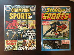 Strange Sports # 3, Champion Sports # 3, DC Comic Book Lot of 2