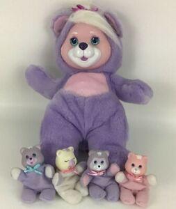 Baby Bear Cub Surprise Plush Stuffed Animal Toy 4 Babies Lot Vintage 1992 Hasbro