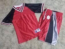 Nwt Champion Red Black Short Set Reversible Shorts & Sleeveless Top Size Xs 4 5