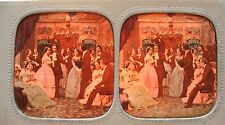 PHOTO STÉRÉOSCOPIQUE STEREOVIEW / SCÈNE DE GENRE SALON DANSE / POLYORAMA