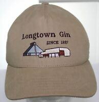 VTG Longtown Gin since 1887 Baseball Hat 1990s Khaki Snapback Cap Made in USA