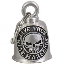 LIVE FREE RIDE HARDCORE Gremlin Bell  with a velvet pouch  HARLEY BIKER BELL