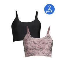 Reebok Women's Size XL 2-Pack Low Impact Stay Put Longline Bralette