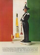 "1962 Italiano Galliano Liqueur Vintage 19"" Decanter PRINT AD"