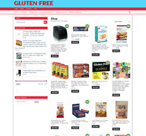 GLUTEN FREE ECOMMERCE UK WEBSITE FULLY STOCKED-FREE DOMAIN 1 YEARS HOSTING