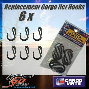 Cargo Net Hooks 6 Pack Replacement suits Ute Tray universal CARGOMATE