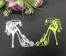 Hot High-heeled Shoe Flowers Metal DIY Cutting Die Card Paper Embossing Stencil