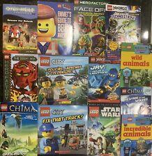 13 lego books. multiple themes