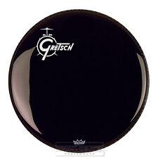 "Gretsch Bass Drum Head Ebony 22"" w/ Offset Logo"