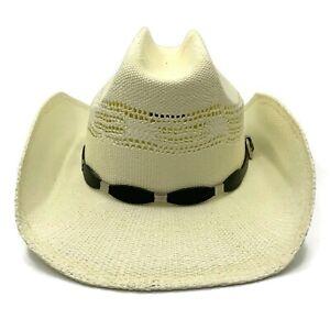Western Cowboy Cowgirl Hat Men Women Beach Wide Brim Straw Cap Sunsreen One Size