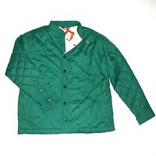 New $100 THE NORTH FACE Quilted Sherpa-Lined Jacket Snap Front Green Mens Size M