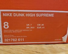 NIKE DUNK HIGH SUPREME BE TRUE PACK 321762-611 RARE DEADSTOCK BRAND NEW SB 2008