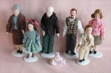 7 PORCELAIN DOLLS & 6 DOLL STANDS Modern Style 12th