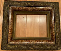 Antique French Giltwood Art Frame with Ginkgo Leaves, 19th Century 13x11,8.2x6.2
