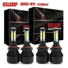 9005 H11 3000W 450000LM CREE LED Headlight Kit High Low Beam Light Bulb 4 Side