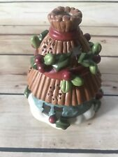 Christmas Candle Jar Lamp Shade Topper HOLLY Berry Holiday