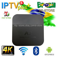 Portuguese Version A2 TV BOX 4K Brazilian Live TV HTV5 IPTV5 Upgrade fast ship