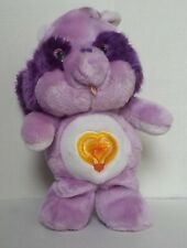 Vintage Bright Heart Raccoon Care Bear Cousins Purple 13 inch Plush Kenner 1984