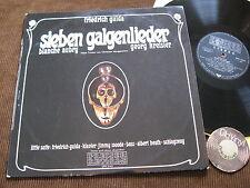 LP Friedrich Gulda Sieben Galgenlieder Aubry Kreisler Austria 1967   EX