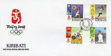 Kiribati 2008 FDC Beijing Olympics Cycling Javelin Weightlifting 4v Cover Stamps