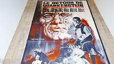 LE RETOUR DE FRANKENSTEIN ! peter cushing affiche cinema hammer film modele rare