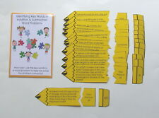 Teacher Made Math Game Identify Key Words Addition Subtraction Word Problems