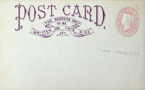 GREAT BRITAIN HALF PENNY QV UNUSED POSTAL STATIONERY CARD