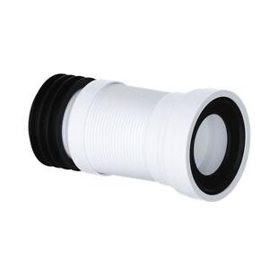 "FLEXIBLE WC PAN CONNECTOR FLEXI TOILET WASTE 4"" 110MM (240 - 500mm)"