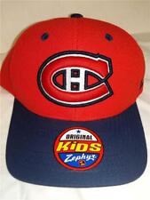 New Montreal Canadians Youth Kids Size OSFA Red Blue Snapback Cap Hat