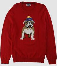 $340 Club Room Men's Red Crewneck Sweater Sweatshirt Pullover Size S