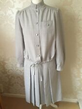 WINDSMOOR LADIES GREY WOOL MIX JACKET AND SKIRT SIZE 12 EXCELLENT CONDITON