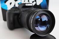2x Telephoto Zoom Macro Lens For Canon Eos Digital Rebel t6 t5 t5i sl1 xti t4i