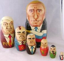 COMPLETE SET OF 7 RUSSIAN NESTING PRESIDENT FIGURES DOLLS FREE SHIPPING