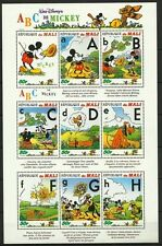 MALI DESSINS ANIMES WALT DISNEY MICKEY MINNIE PLUTO DONALD CARTOONS ** 1996 BLOC