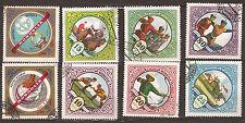 MONGOLIA Lot de 8 francobolli timbrati : Sport della paesi 109T3