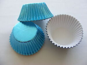 50 x Pale Blue Foil Muffin / Cup Cake cases - perfect for your Frozen theme cake