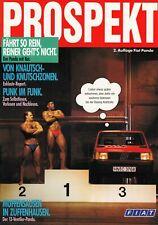 FIAT PANDA 750 Plus 1000 i.e. 4x4 Sisley Youngtimer Prospekt Brochure 1989 88