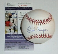 BREWERS Cecil Cooper signed baseball MLB Selig JSA COA AUTO Autographed