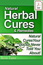 Natural Herbal Cures & Remedies, Pdf eBook w/Resell Rights + Free Shipping