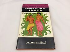 1952 BOOK-COMING OF AGE IN SAMOA-ADOLESCENCE & SEX IN PRIMITIVE SOCIETY-M. MEAD