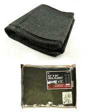 "OD Green Wool Survival Blanket Emergency Camping Military NEW 64"" x 84"" 80% Wool"