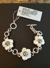NEW STEPHEN DWECK WHITE MOTHER OF PEARL FLOWER GEMSTONE BRACELET IN SILVER