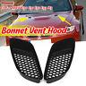 Pair M3 Style ABS Plastic Air Scoop Bonnet Hood Vent for BMW E90 E91 E92 E93 M3