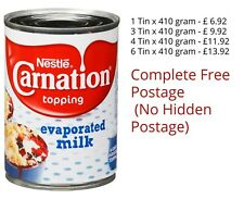 Nestle Carnation Evaporated Milk Topping Quantity Bulk Multi Buy Exp Dec 2020