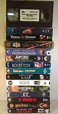 Sci-Fi Lot of 15 Vhs, Family to Adult, Jurassic Park, The Crow, Mib, Tmnt, E.T.