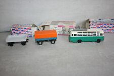 alte Modell Fahrzeuge DDR Bus Ikarus 311 Hänger Lastanhänger Plane H0