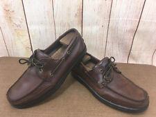 Rockport APM 71651 Brown Leather Casual Boat Shoe Men's Sz. 10m           P26(5)