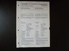 ORIGINALI service manual BLAUPUNKT AUTORADIO STEREO Francoforte 7632642/644